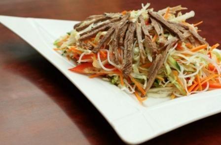 салат с говядины