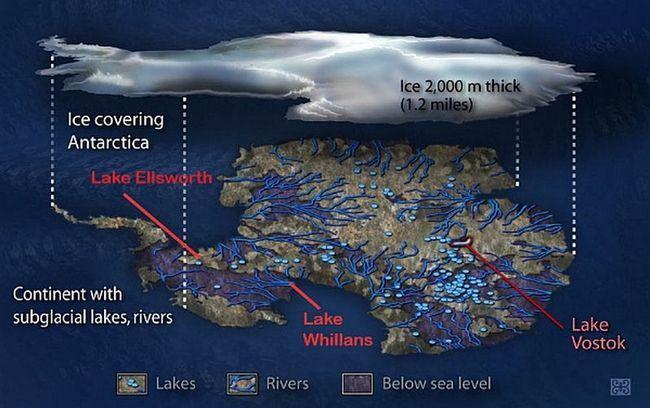 Jezera Uillansa procjenjuje se na 3 km. (Slika Zina Deretsky / NSF).