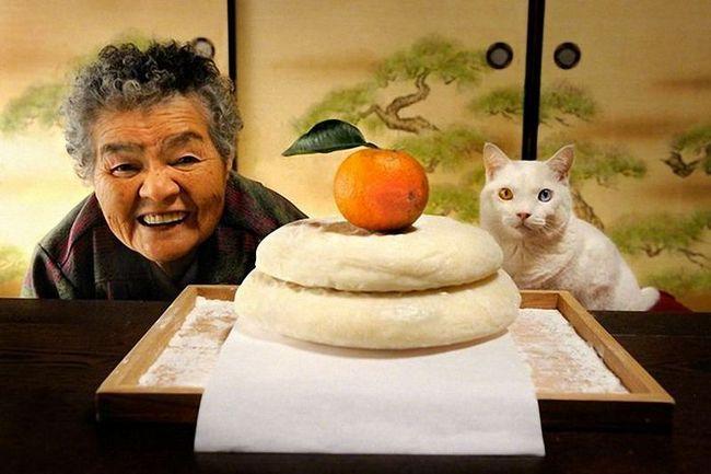 Baka i njen odani mačka