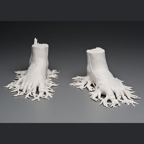 Čovjeka i prirode u porculanske skulpture Keith McDowell