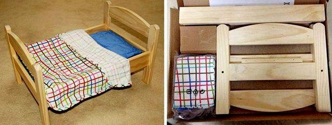 Деревянные кроватки для кошек и собак