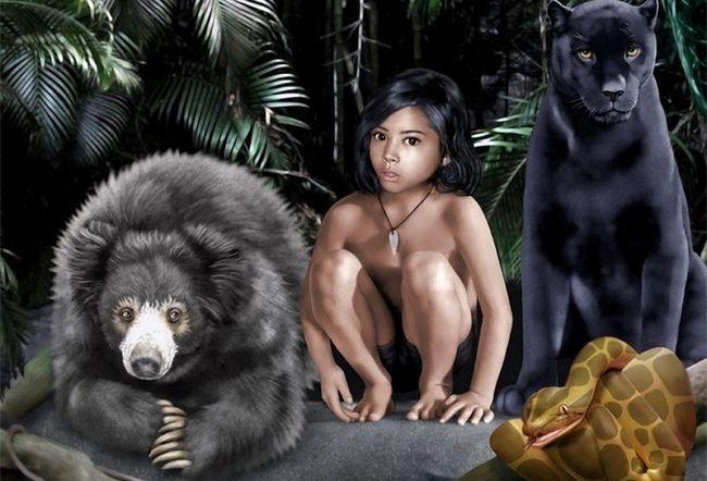 Děti, které jsou vzneseny zvířata