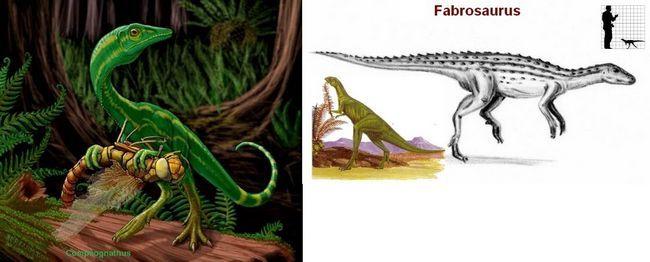 Dinosaurusi kosmognatus i fabrozavr.