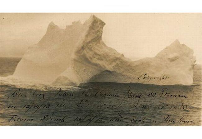 Fotografija ledenog brijega, tone Titanic, stavljena na aukciju u SAD