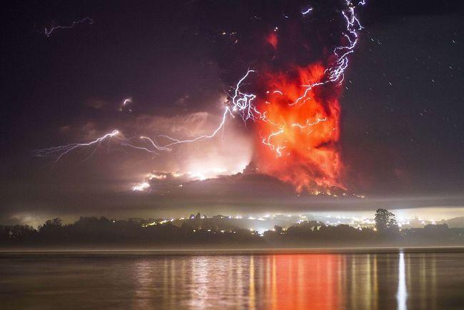 Извержение вулкана Кальбуко, Чили