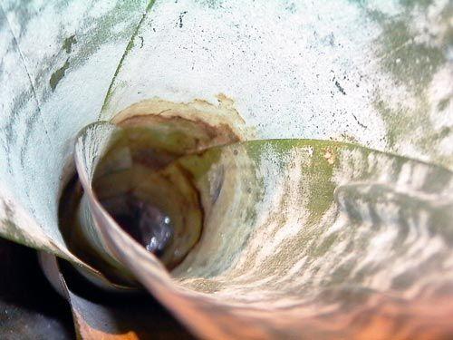 Voda vo výstupnom ehmei