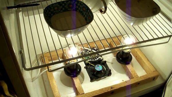 Sistem grijanja i ovlažiti inkubator