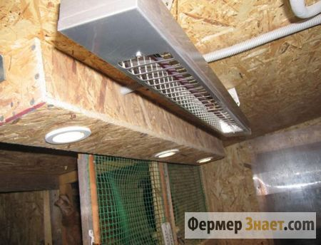 Обогреватель под потолком