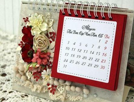 Настольный календарь на Новый год 2017