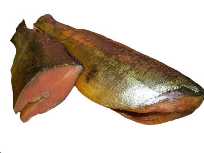 lososie mäso - veľmi chutné, v akejkoľvek forme. Údený losos.