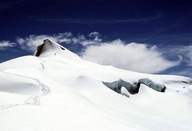 Posetioci Kolumbija Nacionalni park Cocuy planinari popeti do vrha Ritakuba Blanco visoka skoro 5,5 kilometara