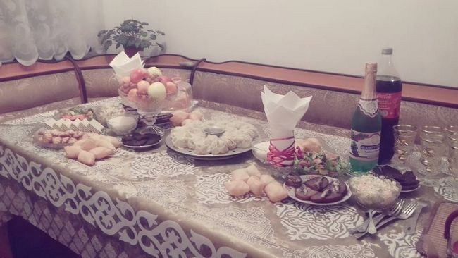 Блюда и декор стола в Новый 2017 Год