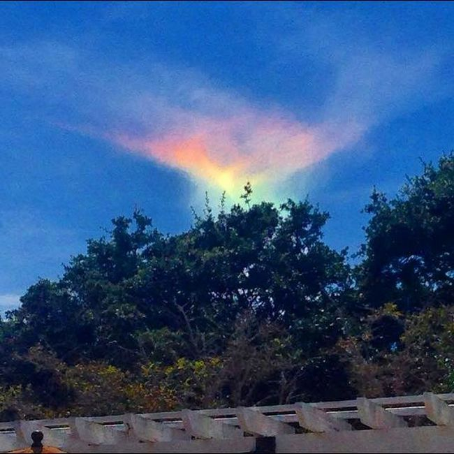 Okrugli horizontalne rainbow je viđen u SAD-u