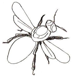 картинка раскраска пчела для детей