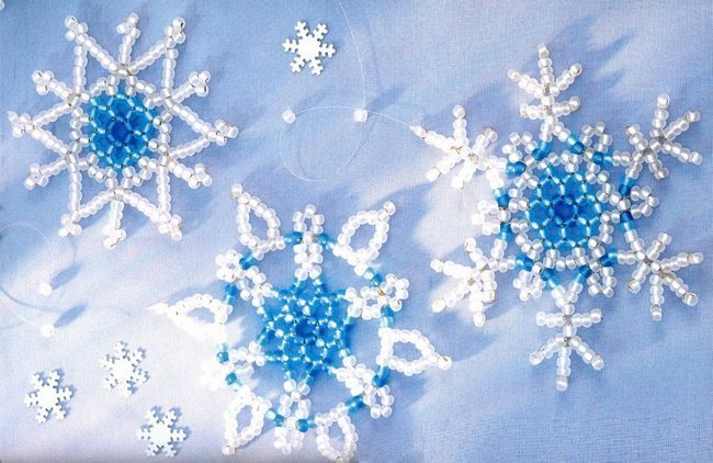 Игрушка в виде снежинки