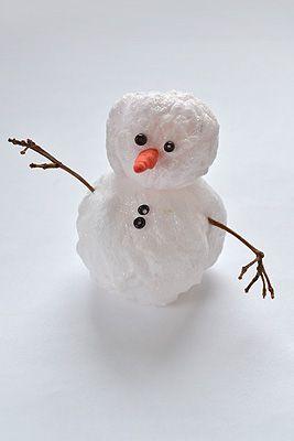 Снеговик из ваты своими руками