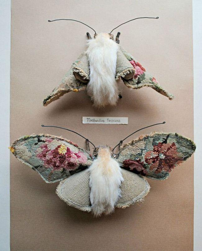 Psevdorealistichnaya životinja i insekata tekstila umjetnika Finch