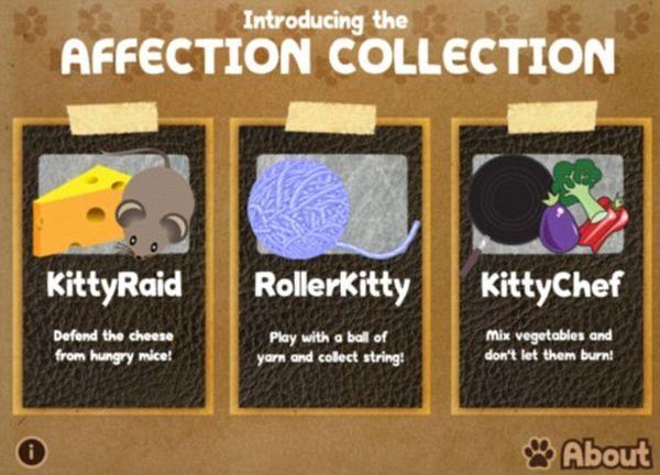 Igre posebno dizajniran za iPad za zabavu mačke