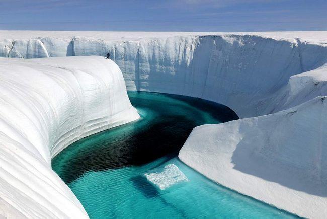 Blue River na Grenlandu.