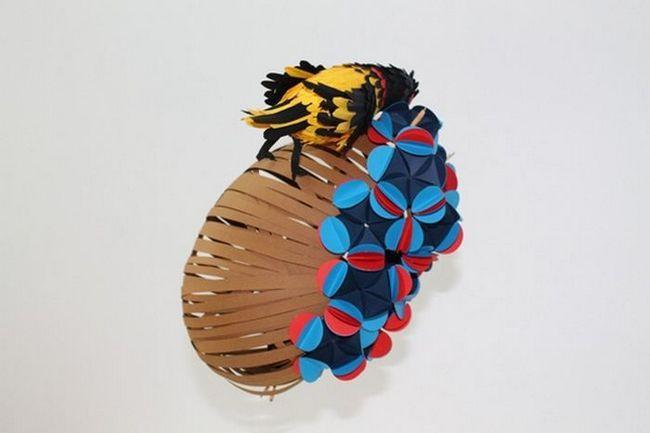 Skulptura od papira umjetnika Diana Beltran Herrera