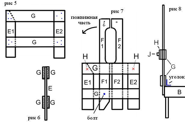 stalak za montažu i zadržavanje mehanizam