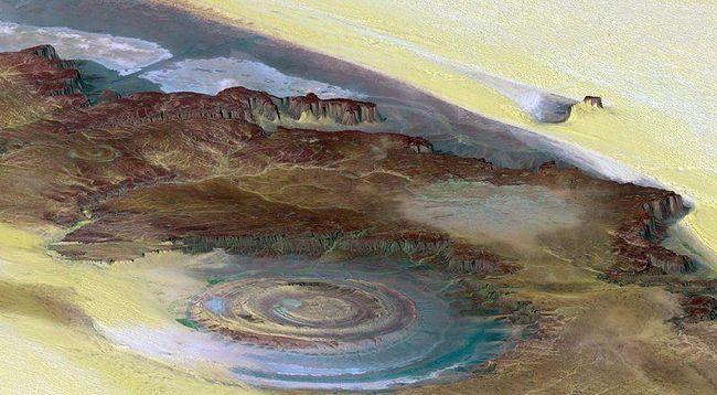 Iznenađujuće Richat struktura - Earth očiju