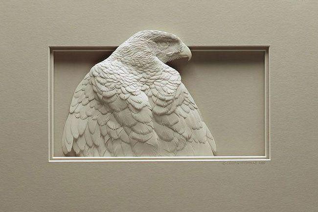 Amazing skulpture od papira od Calvin Nicholls