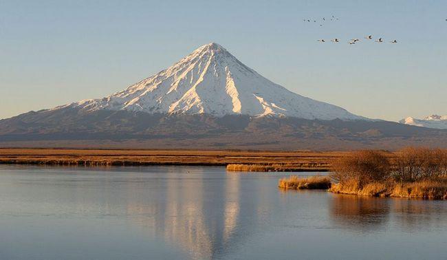 Na poloostrově Kronocká sopka