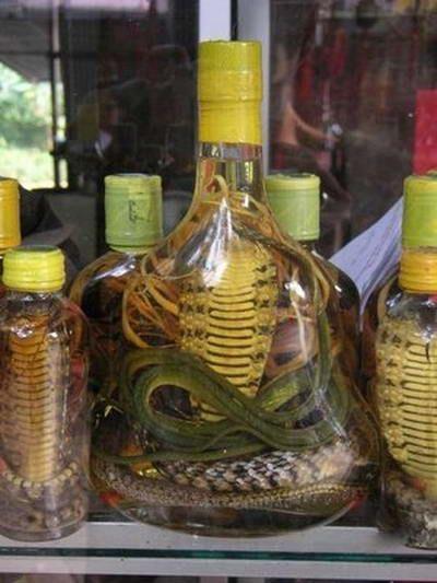 Za proizvodnju zmija vina koji se koriste kobre i drugih rijetkih ugroženih vrsta zmija.